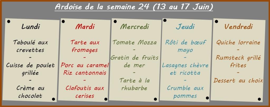 menus semaine 24