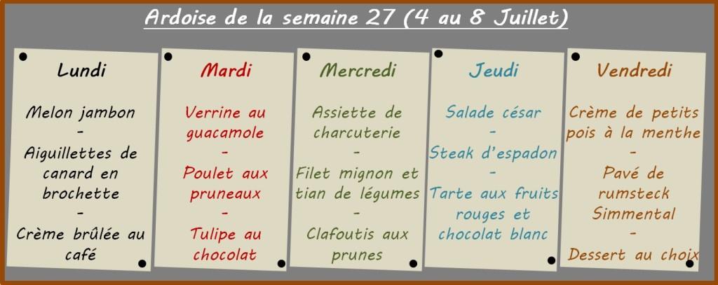 menus semaine 27